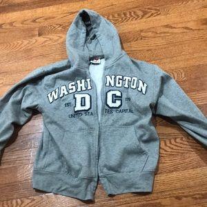 Gray Washington D.C Jacket with hoodie